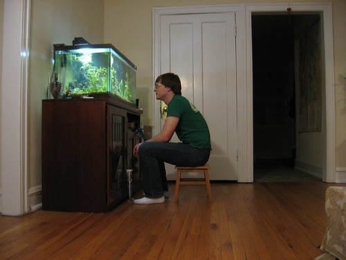 Chris talks to the fishes