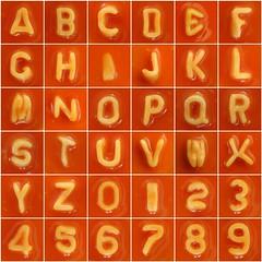 Spaghetti Letters & Numbers (Leo Reynolds) Tags: fdsflickrtoys photomosaic alphabet alphanumeric abcdefghijklmnopqrstuvwxyz 0sec groupphotomosaics heinz alphabetti numberetti groupfd mosaicalphanumeric xleol30x abcdefghijklmnopqrstuvwxyz0123456789 xphotomosaicx hpexif xratio1x1x xsquarex xx2009xx