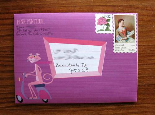 Pink Panther + Universal Postal Union stamp