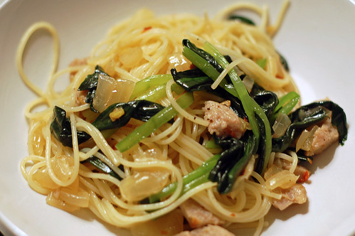 Spaghettini with Wild Garlic