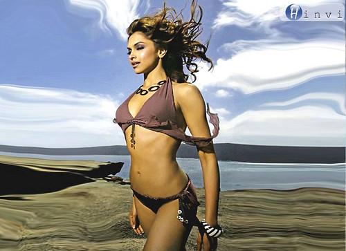 Deepika Padukone posing in bikini