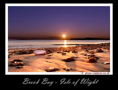 Brook Bay at sunset (tamilian / photo-capture.co.uk) Tags: ocean greatbritain blue sunset sea england sky orange cliff sun mountain seascape beach nature water beauty canon landscape island star evening sand scenery rocks exposure view unitedkingdom britain sale gorgeous awesome efs1855mm pebbles canvas isleofwight stunning buy british mixing aquatic isle tranquil satish sathish 30d tamilian brookbay wallprint photocapturecouk