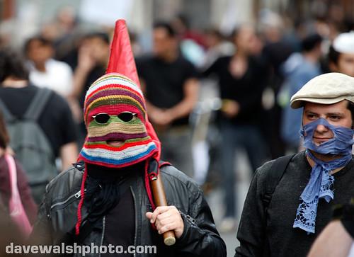 Anarchist Protester in Crochet Balaclava