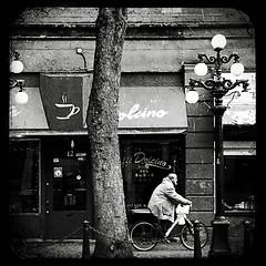 ... (Shahriar Erfanian) Tags: street people blackandwhite bw canada bike vancouver bc gastown shahriarerfanian