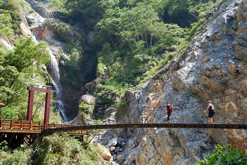 bridge to baiyang waterfall, taroko gorge