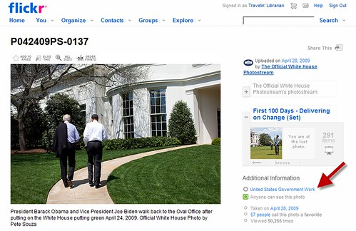 New copyright statement for White House on Flickr