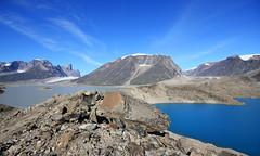 The Grass is Always Greener... (jennyBunz) Tags: canada nationalpark glacier baffinisland auyuittuqnationalpark morain akshayukpass mountasgard