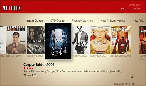Netflix on Windows Media Center
