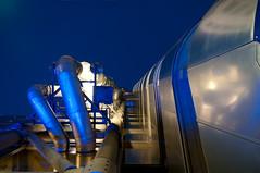 Rocket (beechlights) Tags: london night stairs reflections dark pipes tubes fireescape lloyds cityoflondon lloydsbuilding richardrogers lloydsoflondon lordrogers insurancemarket rogersstirkharbourpartners