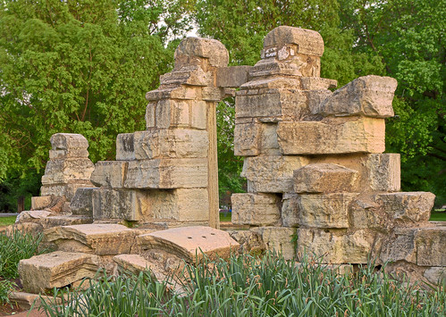 Tower Grove Park, in Saint Louis, Missouri, USA - ruins