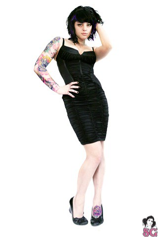 heavily tattooed girls from fully dressed to scantly dress is sure going