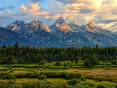 Early Morning at Blacktail Ponds Overlook (Jeff Clow) Tags: morning mountains landscape bravo searchthebest wyoming grandtetons grandtetonnationalpark 1exp jacksonholewyoming anawesomeshot blacktailpondsoverlook ©jeffrclow topazadjust