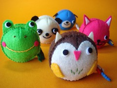 Measuring Tapes (feltmates!) Tags: dog cat panda handmade felt frog tape kawaii owl measuring feltmates