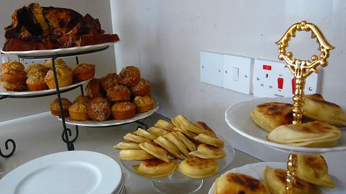 Cheese dumplings, savoury muffins & cake