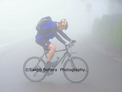 Colors @Zero-Visibilty (Sanjib Behera) Tags: blue cold color colors fog clouds pose germany cyclist foggy posing schwarzwald blackforest visibility feldberg titisee zerovisibilty