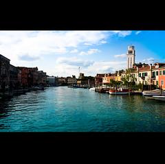 Venezia (Long Cavalli) Tags: venice italy cloud water canon river boat vibrant colourful venezia veneto 40d abigfave