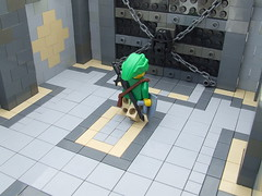Boss's Antechamber (Shadow Viking) Tags: door boss game video big key lego lock games gaming link videogame zelda thelegendofzelda mastersword bossbattle hyrulianshield