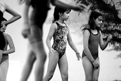 Calafia at Gymnastics (etravus) Tags: bw kids youth children sister brother young gymnastics future offspring adolescence calafiaprice familygetty2010