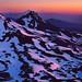 Summit Sunrise. Oregon cascades