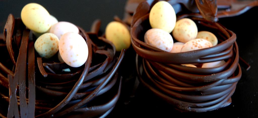 Divine fairtrade dark chocolate nests