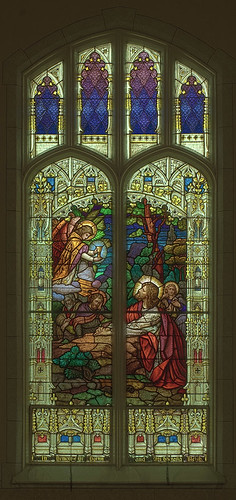 Saint Joseph Roman Catholic Church, in Freeburg, Illinois, USA - stained glass window of the Agony in the Garden