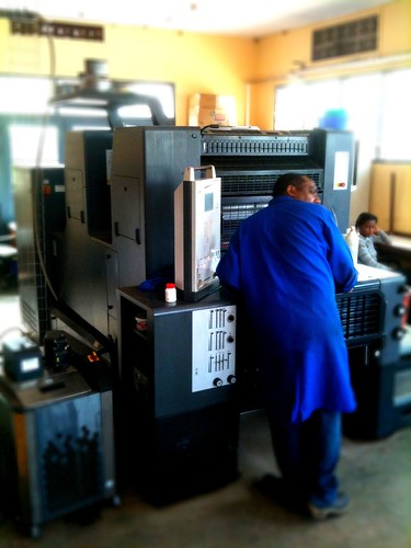 Printing at Rwanda Health Communications Centre