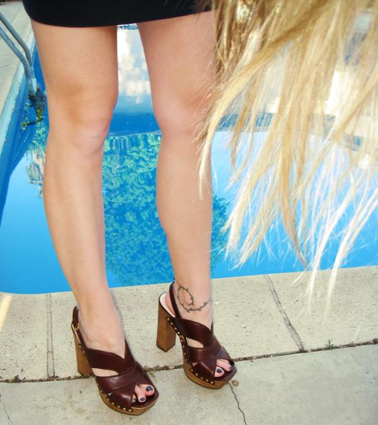 Miu Miu CLogs+platform studded sandals+legs