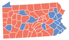 Pennsylvania 2008 Presidential Election by County