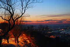 Snowy sunset in Cattolica (MartinePasquini) Tags: morning sunset red sea sky bali italy orange love water colors beauty landscape thailand coast soft scenic calm romance silence pastels romantic pesaro adriatic cattolica