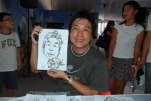 caricature live sketching for LG Infinia Roadshow - day 2 - e