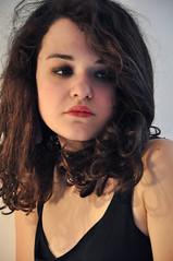 Giulia. (Lu | Samsara) Tags: white black muro girl wall dark nikon stripes curly ricci luisa bianco nero ragazza righe iervolino d5000