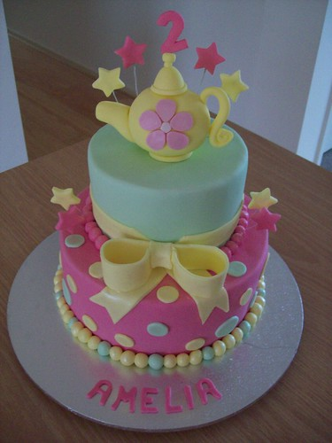 birthday cakes for girls 2nd birthday. Tea-party irthday cake