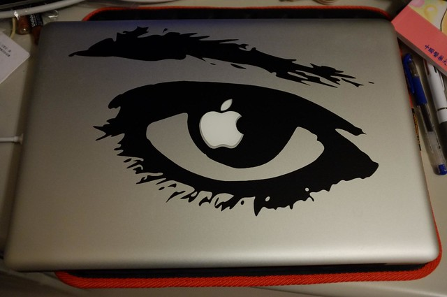 APPLE OF MY EYE Mac Book Vinyl Decal Sticker
