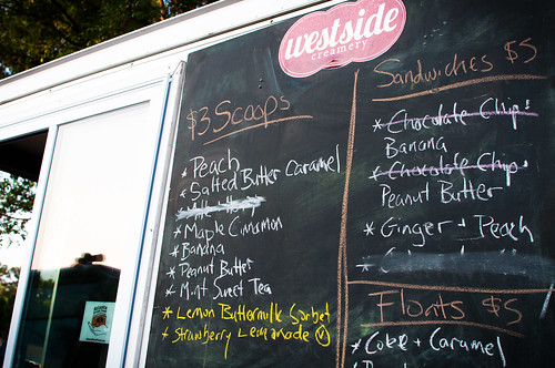 Westside Creamer Menu at Howell Mill Food Park