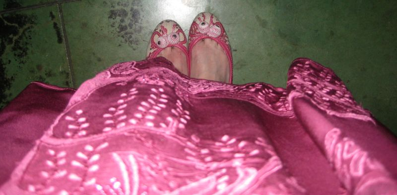 dancing shoes and skirt
