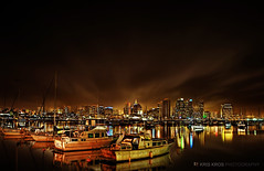 one cold night in san diego in hdr (Kris Kros) Tags: ocean cold night photography one drive harbor high downtown raw shot dynamic pacific sandiego single range hdr drv kkg in goldenglobe 3xp firstquality photomatix supershot kriskros infinestyle kkgallery