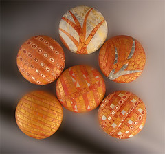 Copperfields (metalartiste) Tags: inspiration polymerclay round naftali crackled polymerclaybeads focalbead artbead baoteam
