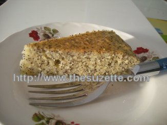Lemon Almond Poppy Seeds Cake