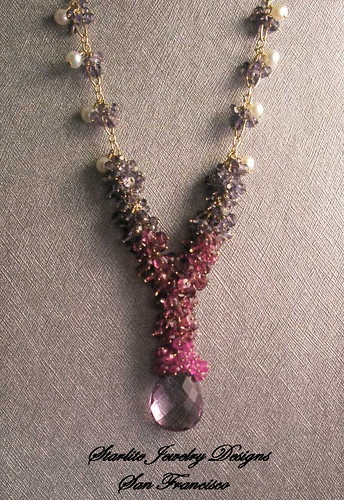 Starlite Jewelry Designs Briolette Necklace Rose de France San