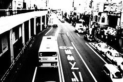 road -machida- (chihilo) Tags: road street bw bus car japan canon store  rue   japon slope chemin machida       blueribbonwinner  mywinners blackwhiteaward theperfectphotographer goldstaraward