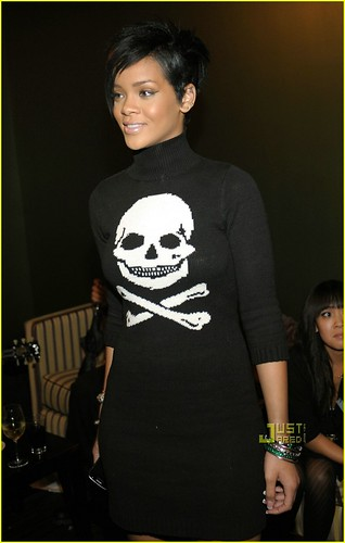 Rihanna Skull Knit Dress