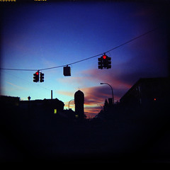 Dick Tower (Angela&Martin) Tags: blue sunset sky trafficlights color brick tower 6x6 film college clouds mediumformat penis holga university michigan dick toycamera ishootfilm 120film ypsilanti emu expired phallic eastern crappy plasticcamera ypsi expiredfilm crappycamera holga120n easternmichiganuniversity washtenaw brickdick a3c3