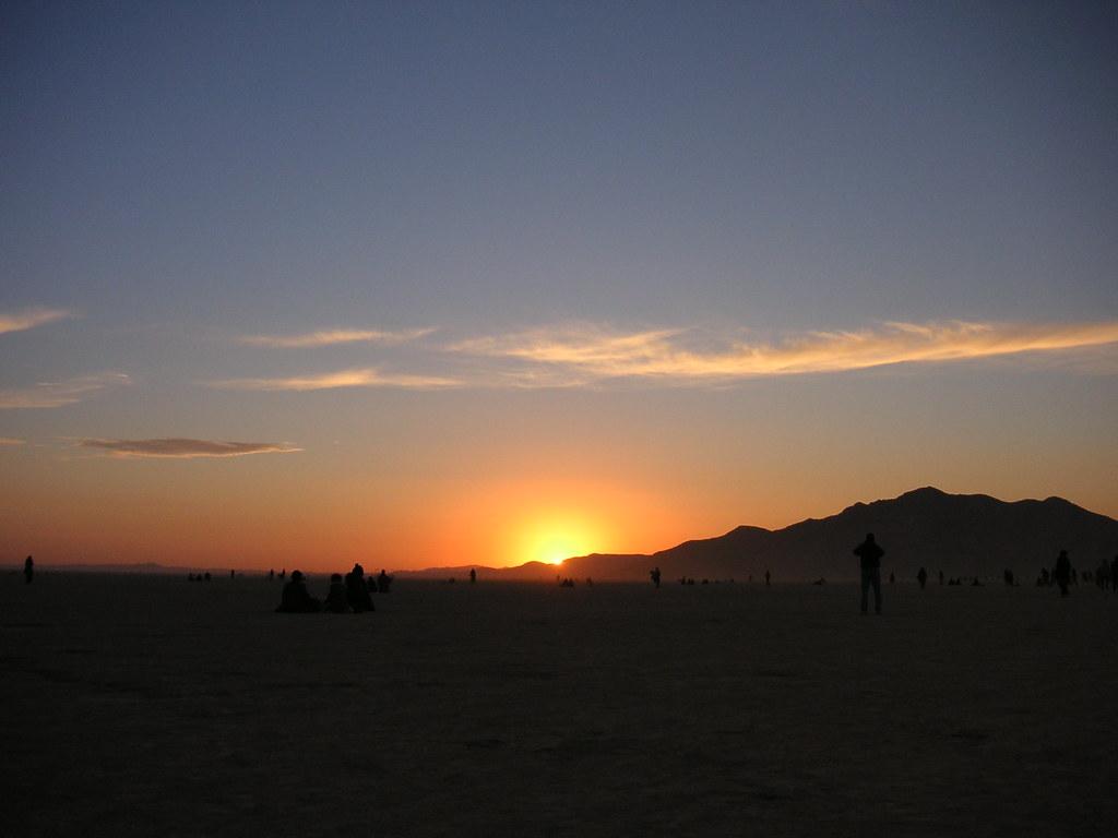Burning Man Sunrise 2005