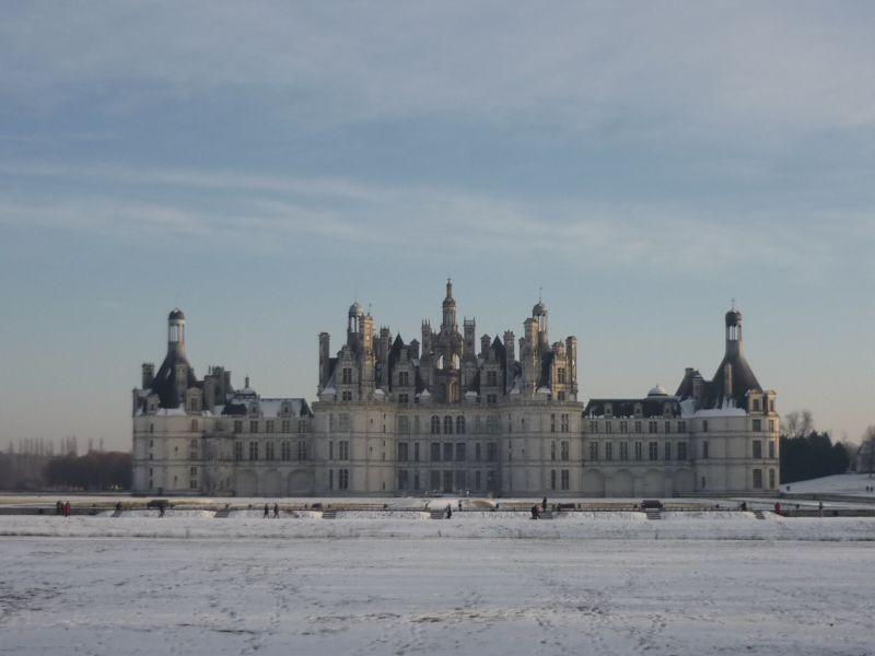 Chateau de Chambord en hiver