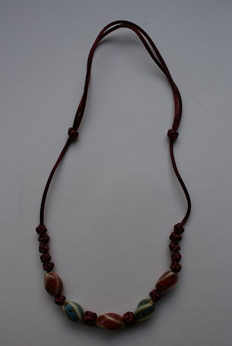 Chinese Knot Necklace Red