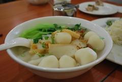 Fish Ball Hor Fun Rice Noodle Soup Salt-Baked Chicken Rice - Hakka Teahouse, Glen Waverley AUD9 lunch special