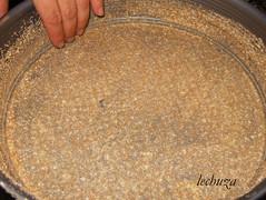 Tarta de bacalao-molde pan rallado