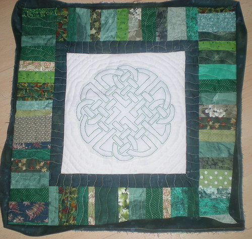 Paddy's Day quilt...nearly done
