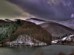 Gura Golambului - Banat (AragianMarko) Tags: trees lake clouds europe autum lac romania caras hdr banat sonydscf828 photomatix landshaft freezinglandscape guragolambului
