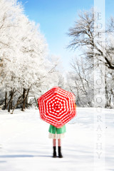 (EDEN PHOTOGRAPHY) Tags: red snow umbrella vermelho neve sombrinha april09 edenphotography